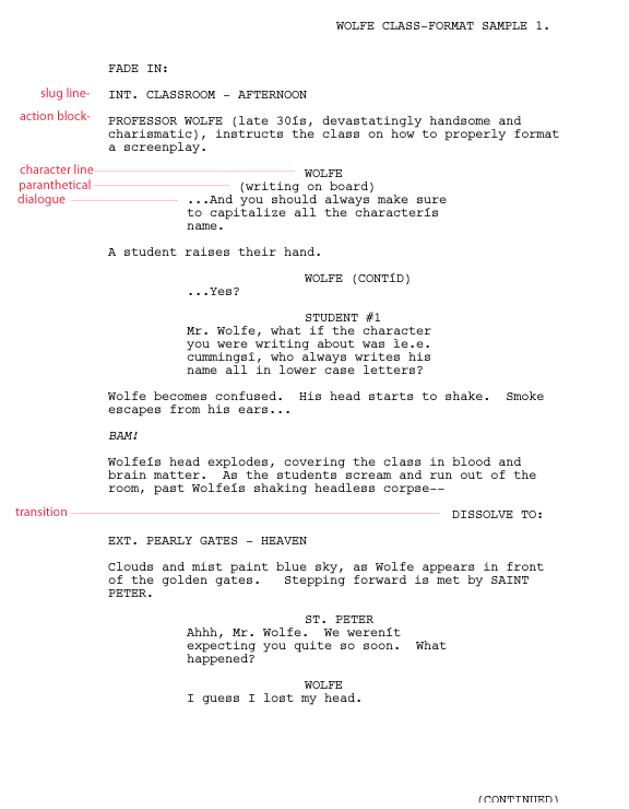 Writing for film tv script format templates script format templates pronofoot35fo Gallery