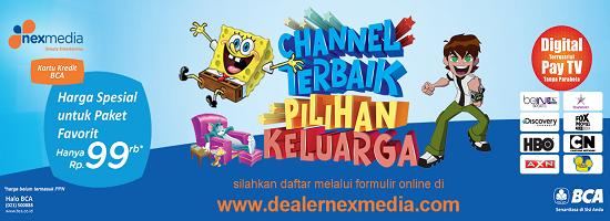Promo khusus berlangganan Nexmedia dengan kartu Kredit BCA.