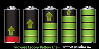 Increase battery life of a laptop