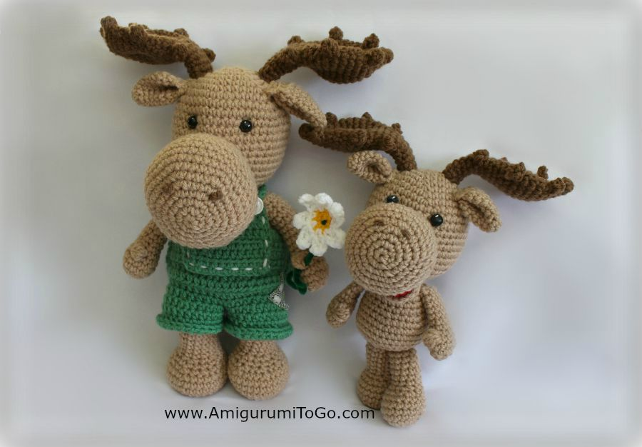 Amigurumi To Go Raccoon : Little Bigfoot Moose ~ Amigurumi To Go