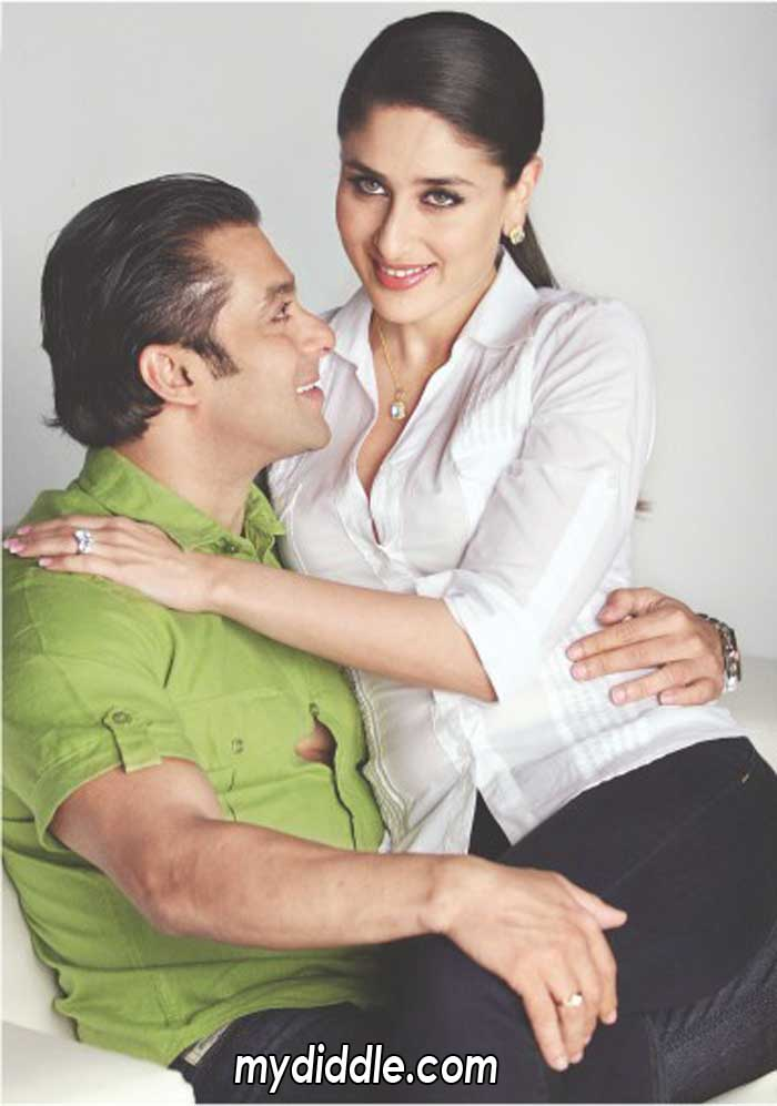 Salman Khan Guarding Kareena Kapoor's Body :)