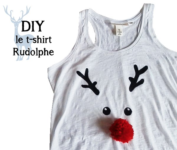 DIY : Le t-shirt Rudolphe