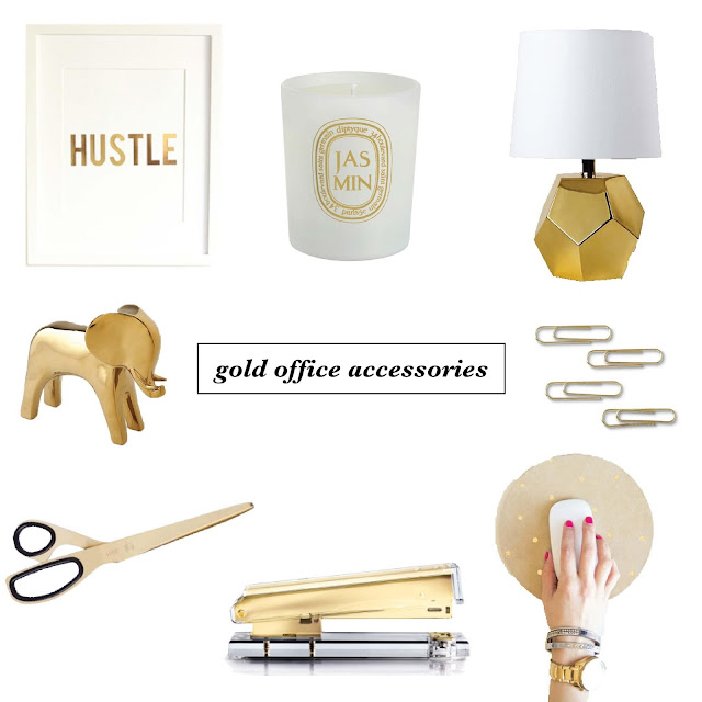 work it wednesday: gold office accessories