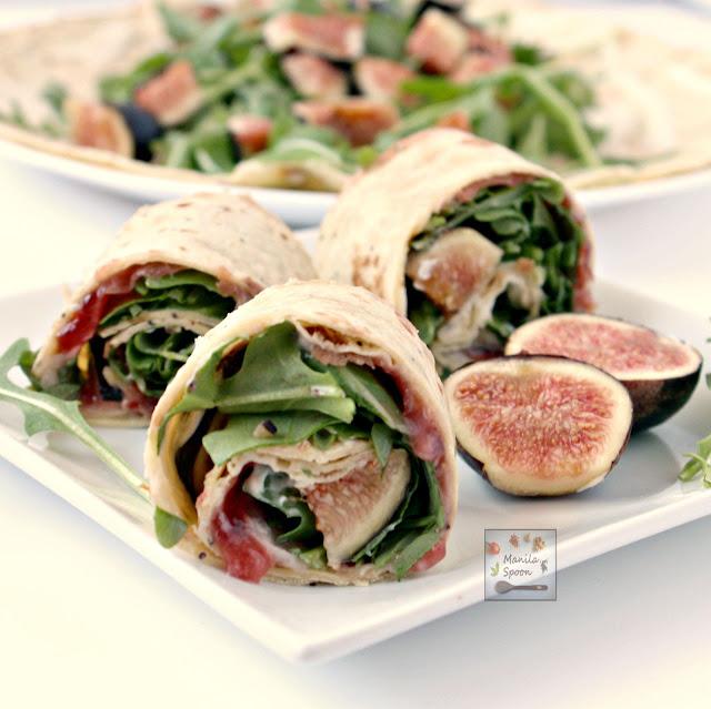 Fig, prosciutto, arugula and creamy mascarpone all join in to create a ...