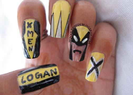 Wolverine Nail Art Movie Nailart Upbeat Nails Nail Art Blog