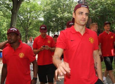 Man Utd Tour 2011 Evra Ferdinand Berbatov at Harvard University
