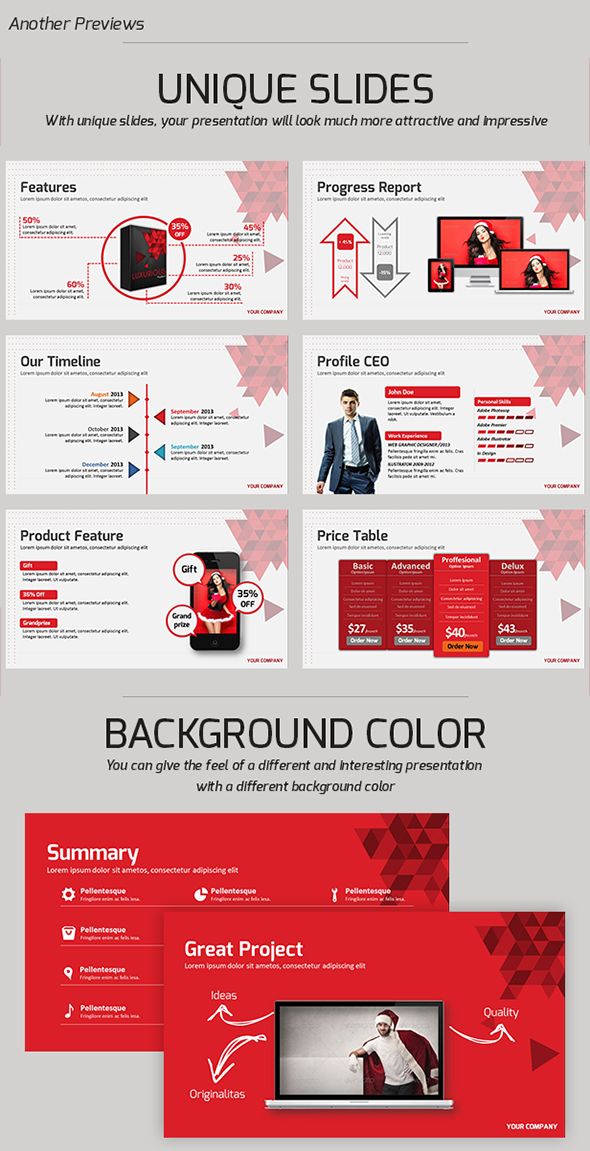 Luxurious PowerPoint Presentation Template