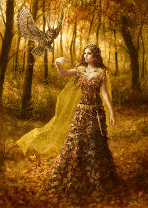 Laura Sava anotherwanderer deviantart ilustrações fantasia belas mulheres Conjunção com a natureza