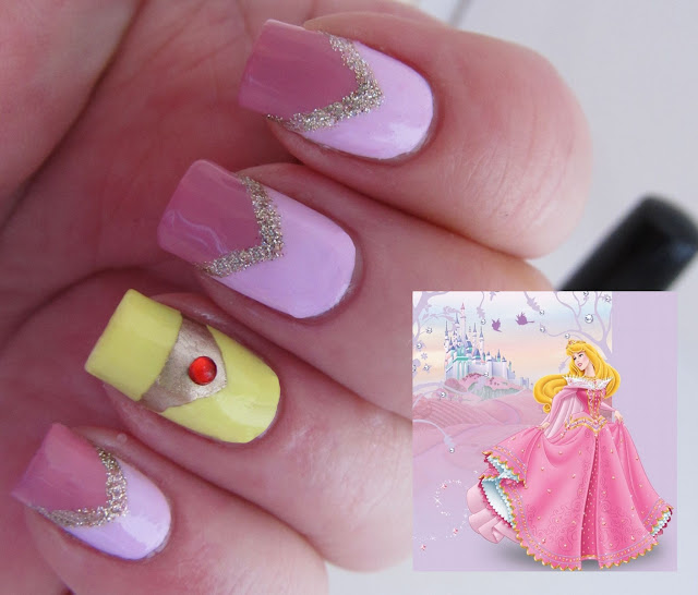 Sleeping Beauty Nail Art