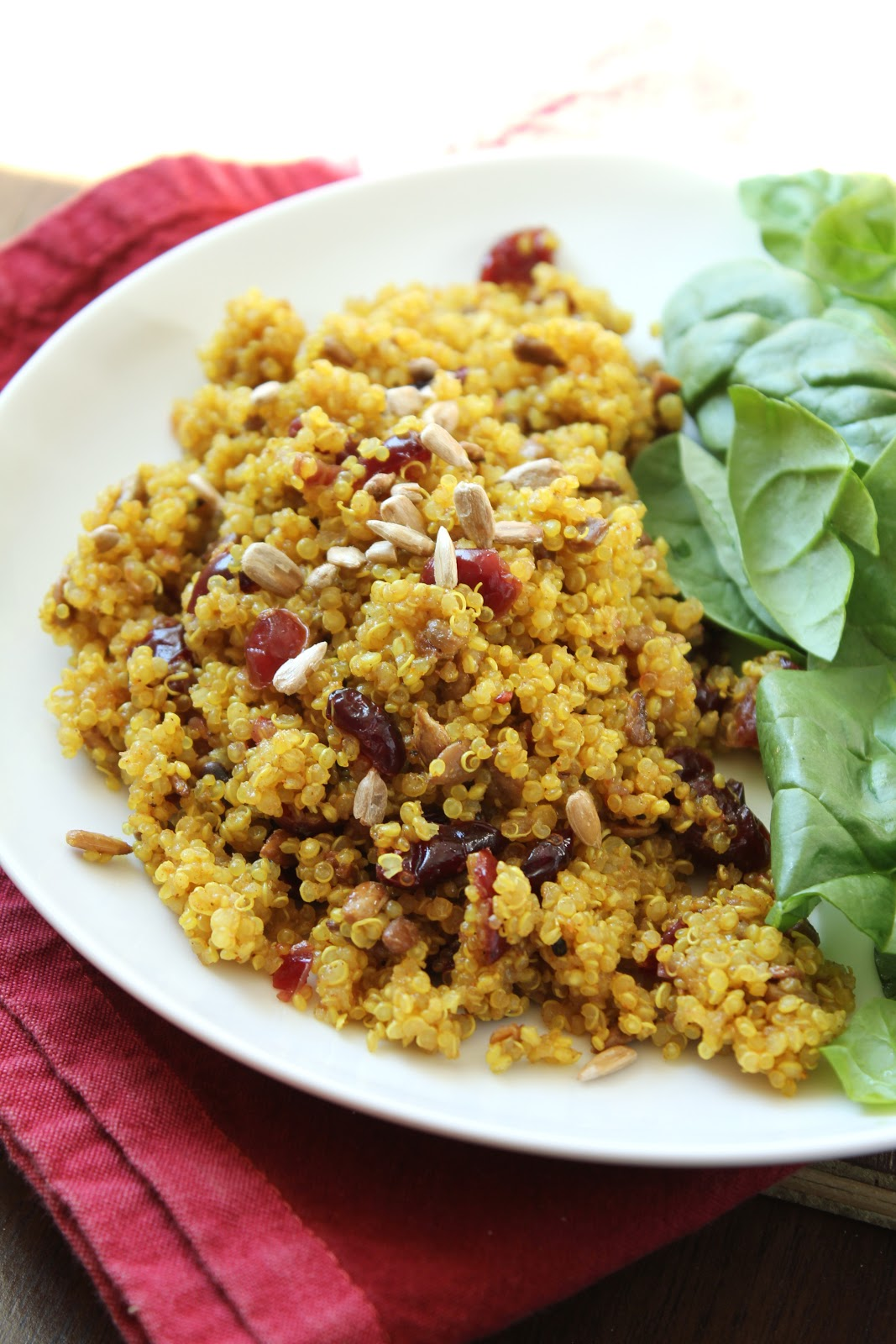 Delicious as it Looks: Curried Cranberry Quinoa Side Dish