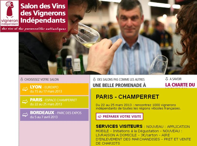 Emric93 invitation gratuite pour le salon des vins des - Invitation salon des vignerons independants ...