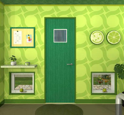 Fruit Kitchens Lime Green