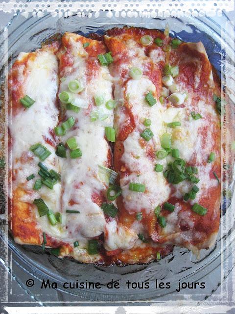 Enchiladas fromagés aux courgettes