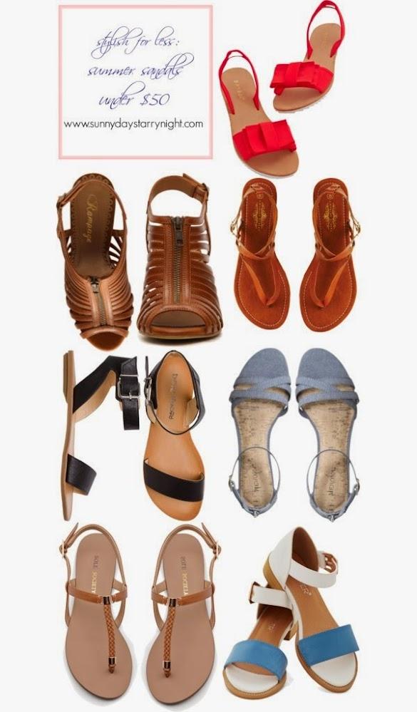 Summer sandals under $50