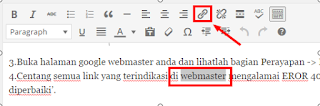 membuat internal link pada wordpress