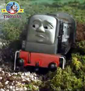 Thomas and friends Dennis the diesel train looked very shame faced sorry Thomas the tank engine