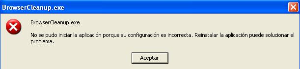 Error Browser Cleanup