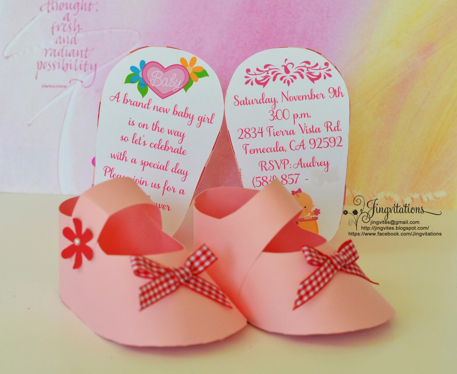 Jingvitations: 3D Invitations: Very Unique Baby Shoe Invites for ...