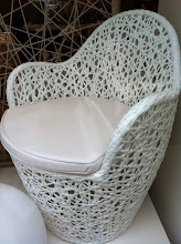 White Caned Chair