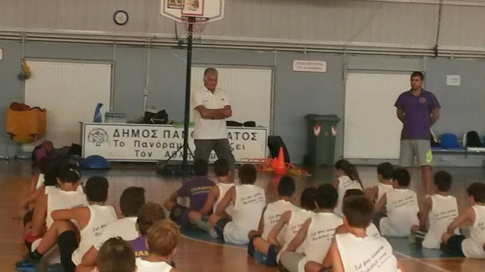 Ο Σούλης Μαρκόπουλος στην τελευταία μέρα του 1st basketball camp by Champions Πανοράματος-Φωτορεπορτάζ