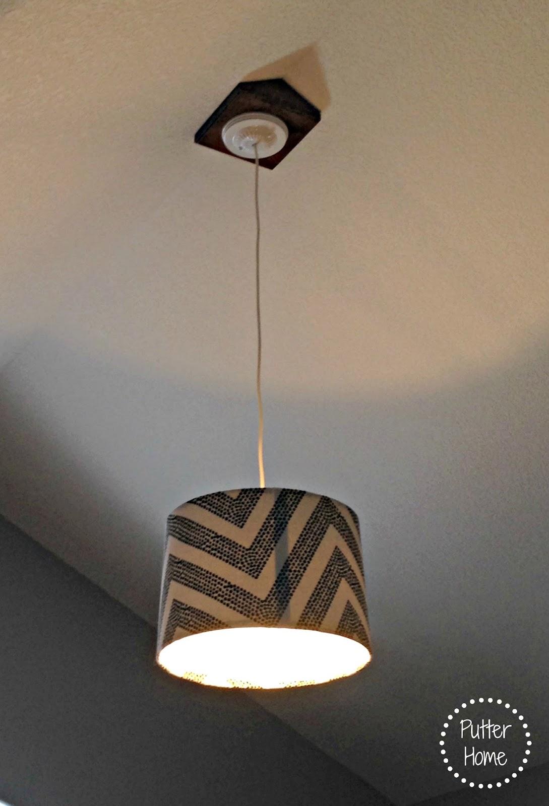 DIY Shade Pendant Light - Putter Home