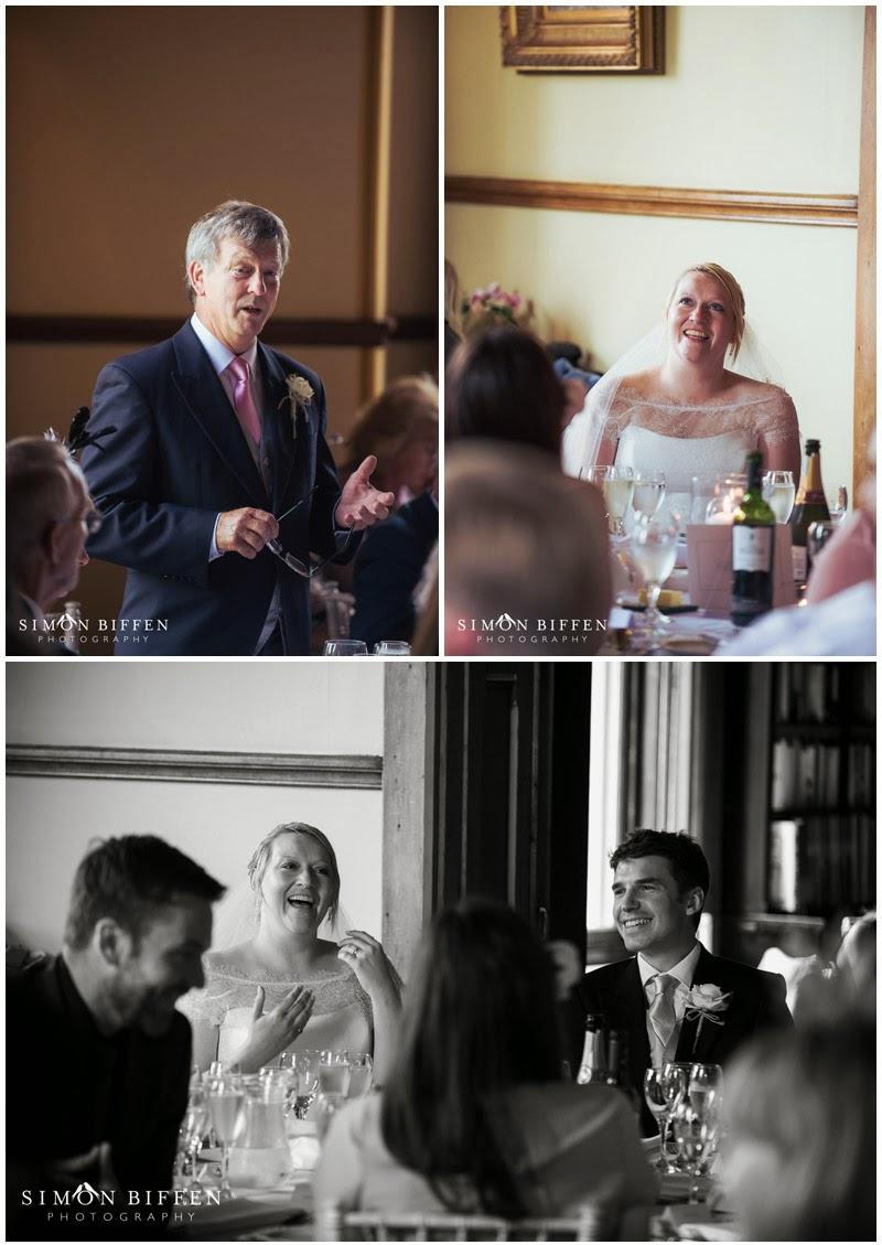 Wedding speech photographs at Huntsham Court