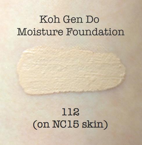 Koh Gen Do Moisture Foundation 112 swatch