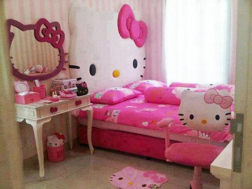 Bricolage e Decoração 10 Quartos de Princesa inspirados  ~ Tapetes Quarto Hello Kitty