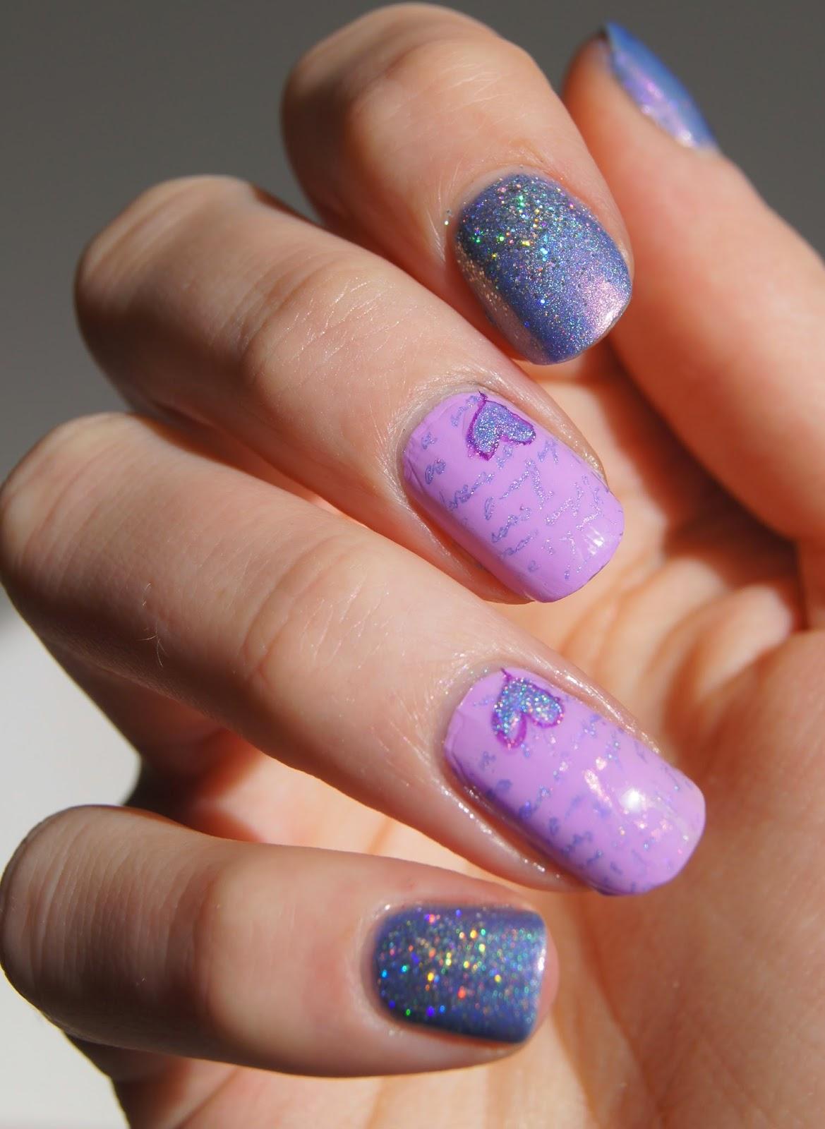 nail art saint valentin coeur