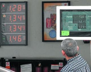 Los precios de la gasolina y el gasoleó subirán en Enero