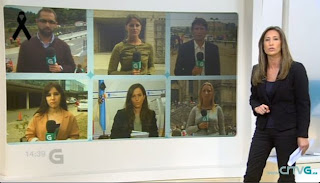 Despliegue de la Televisión de Galicia en el accidente de tren de Santiago