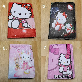 leather case tablet hello kitty