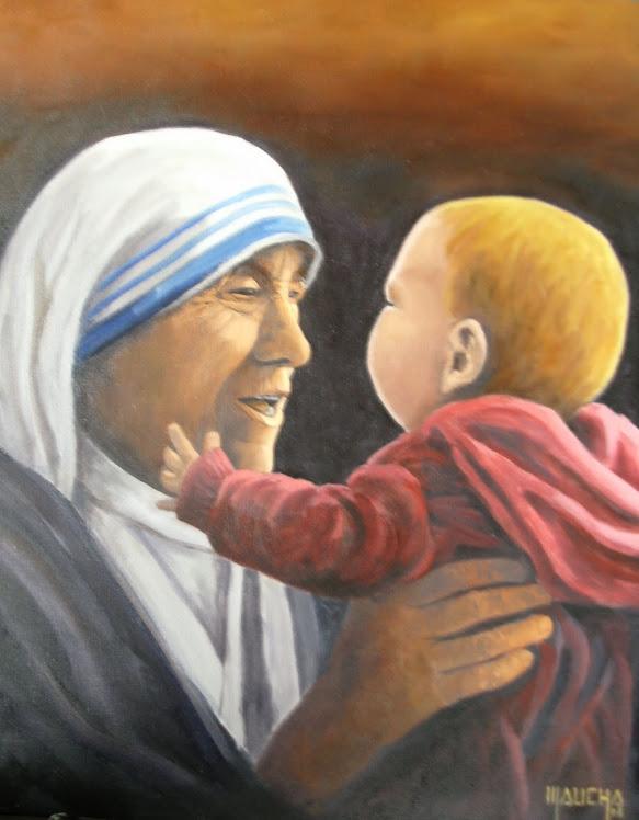 """""""Madre Teresa com Neném"""""""