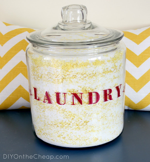 DIY Laundry Jar + Homemade Laundry Detergent