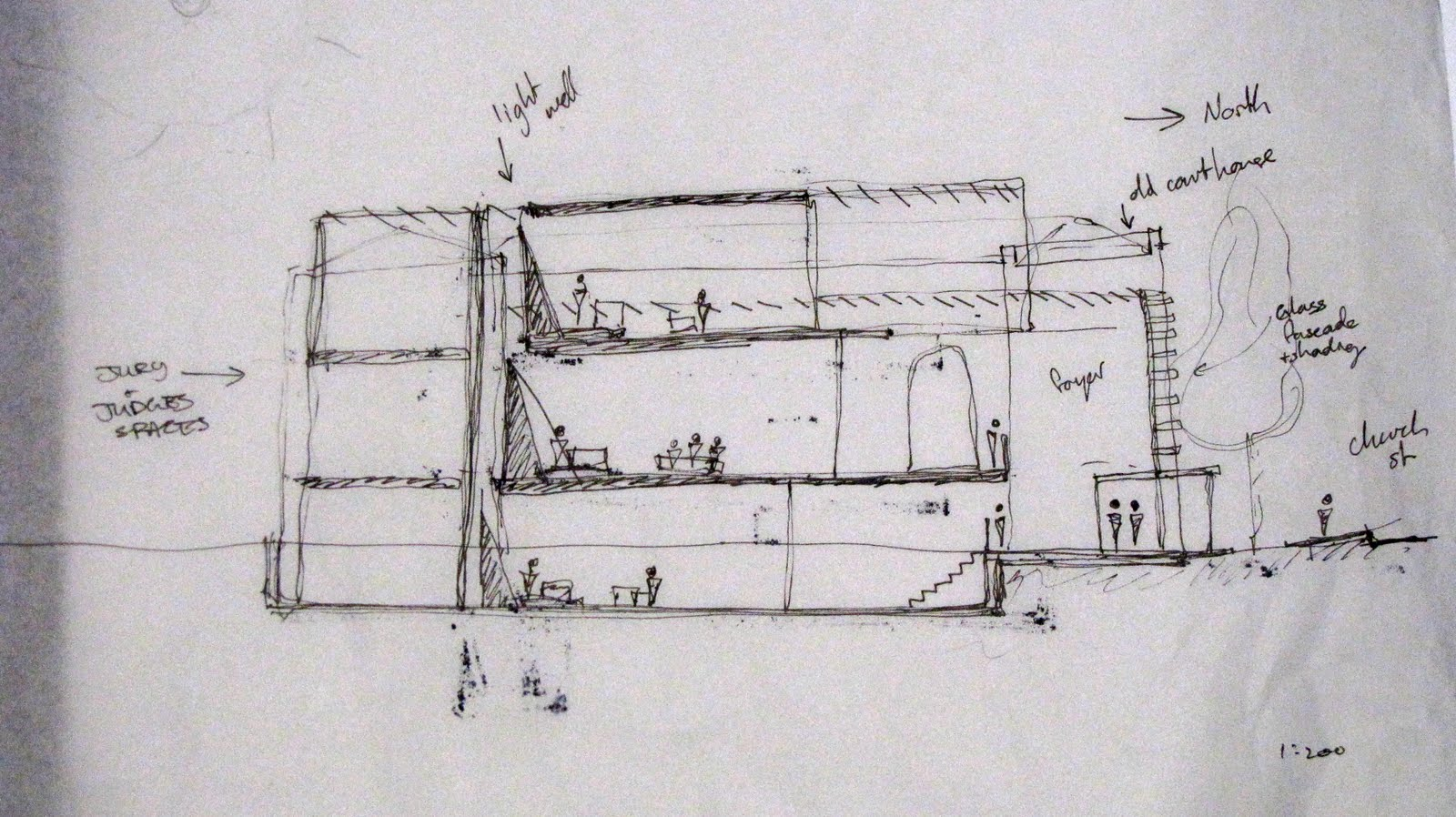 Newcastle Court House: Schematic Sketches