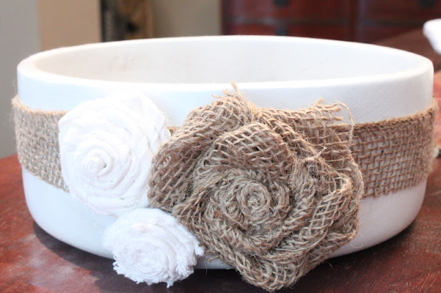 twisted fabric roses