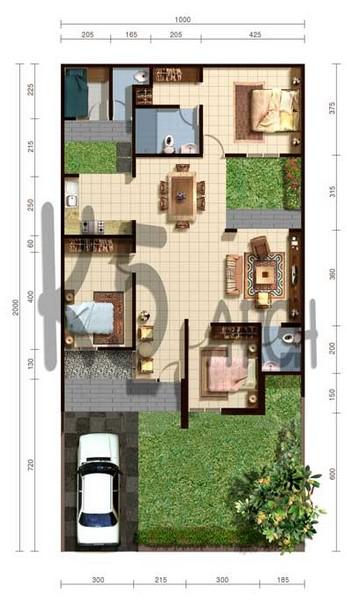 desain rumah minimalis modern type 70
