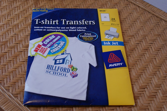 Avery Iron-on Transfer PAckage 24 sheets for light fabric