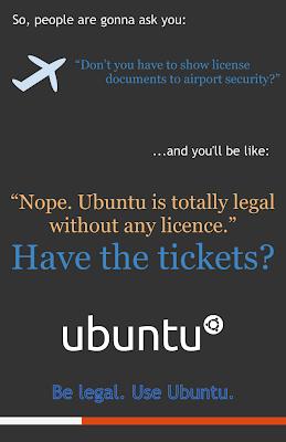 Ubuntu lebih legal ketimbang Windows