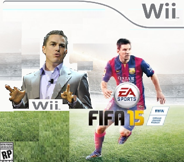 The boxart for the Wii version of FIFA 15 starring Andrew Wilson.