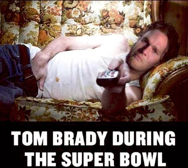 tom brady during the super bowl