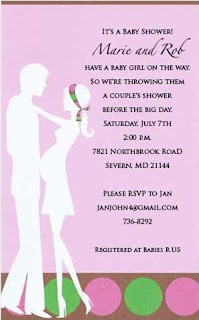Expecting Couples Pink Baby Shower Invitations