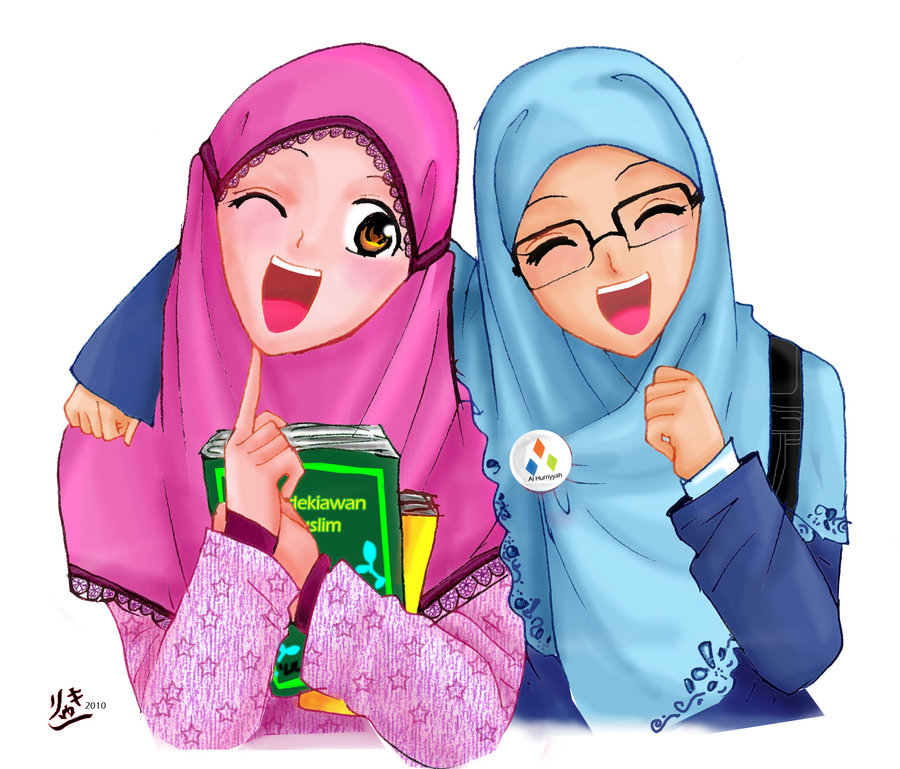 kartun ukhuwah akhwat berdua kartun dakwah islam