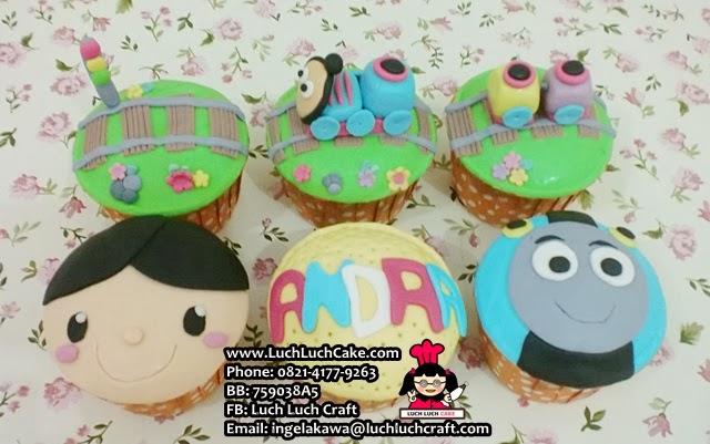 Cupcake Kereta Thomas Daerah Surabaya - Sidoarjo