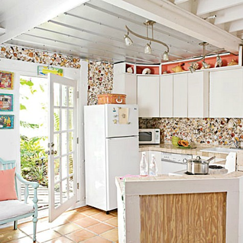 seashell backsplash