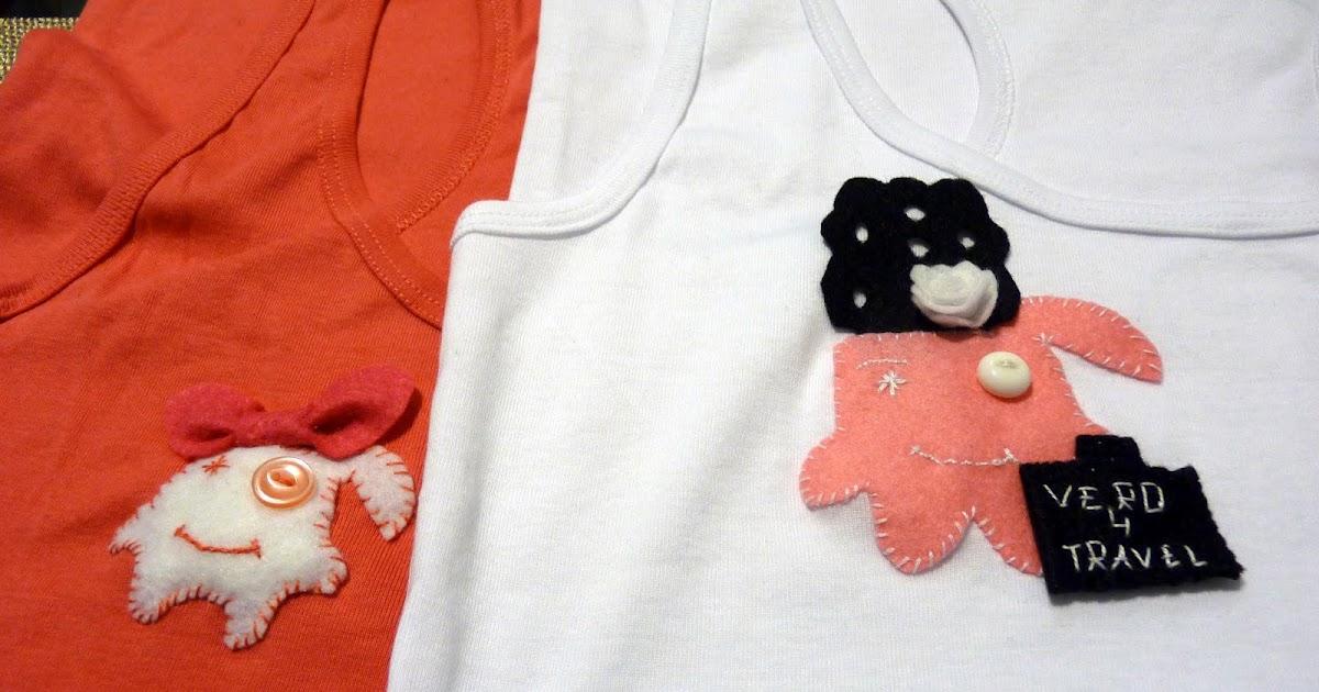 Como personalizar tus camisetas delantales o ropa vero4casa - Decorar camisetas basicas ...