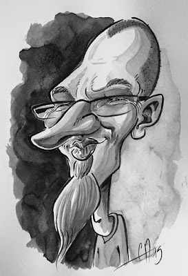 Mon ami et excellent caricaturiste... David Tessier