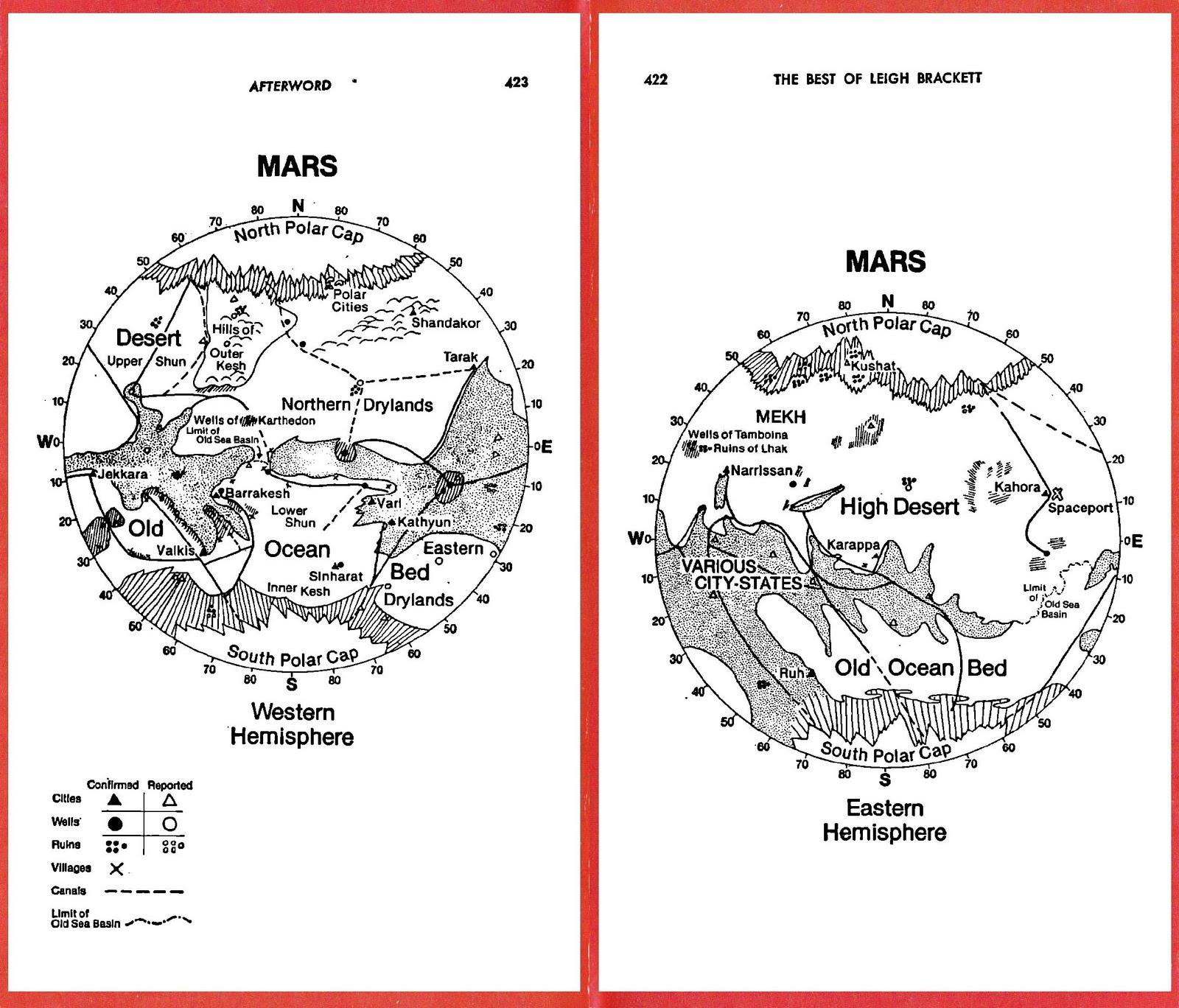 Leigh Brackett's Mars Maps - Leigh Brackett