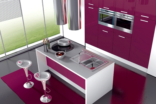 Le rose en cuisine id e d co for Couleur cuisine design