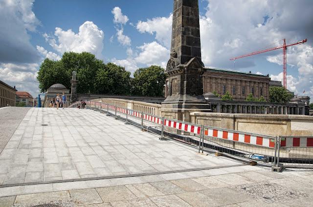 Baustelle Museumsinsel, Friedrichsbrücke, Brückensanierung, Bodestraße, 10178 Berlin, 11.07.2014